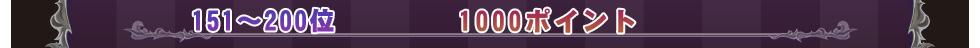 151〜200位 1000ポイント