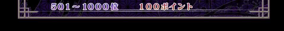 501〜1000位 100ポイント