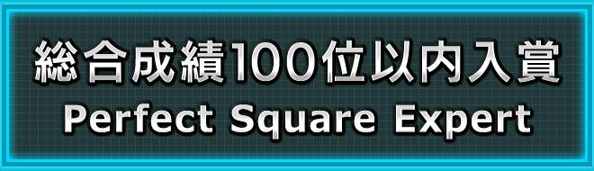 総合成績100位以内入賞 「Perfect Square Expert」