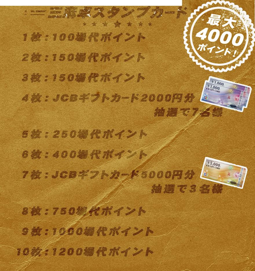三麻卓スタンプカード