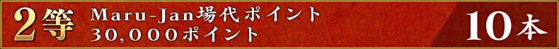 2等:Maru-Jan場代ポイント30,000ポイント 10本
